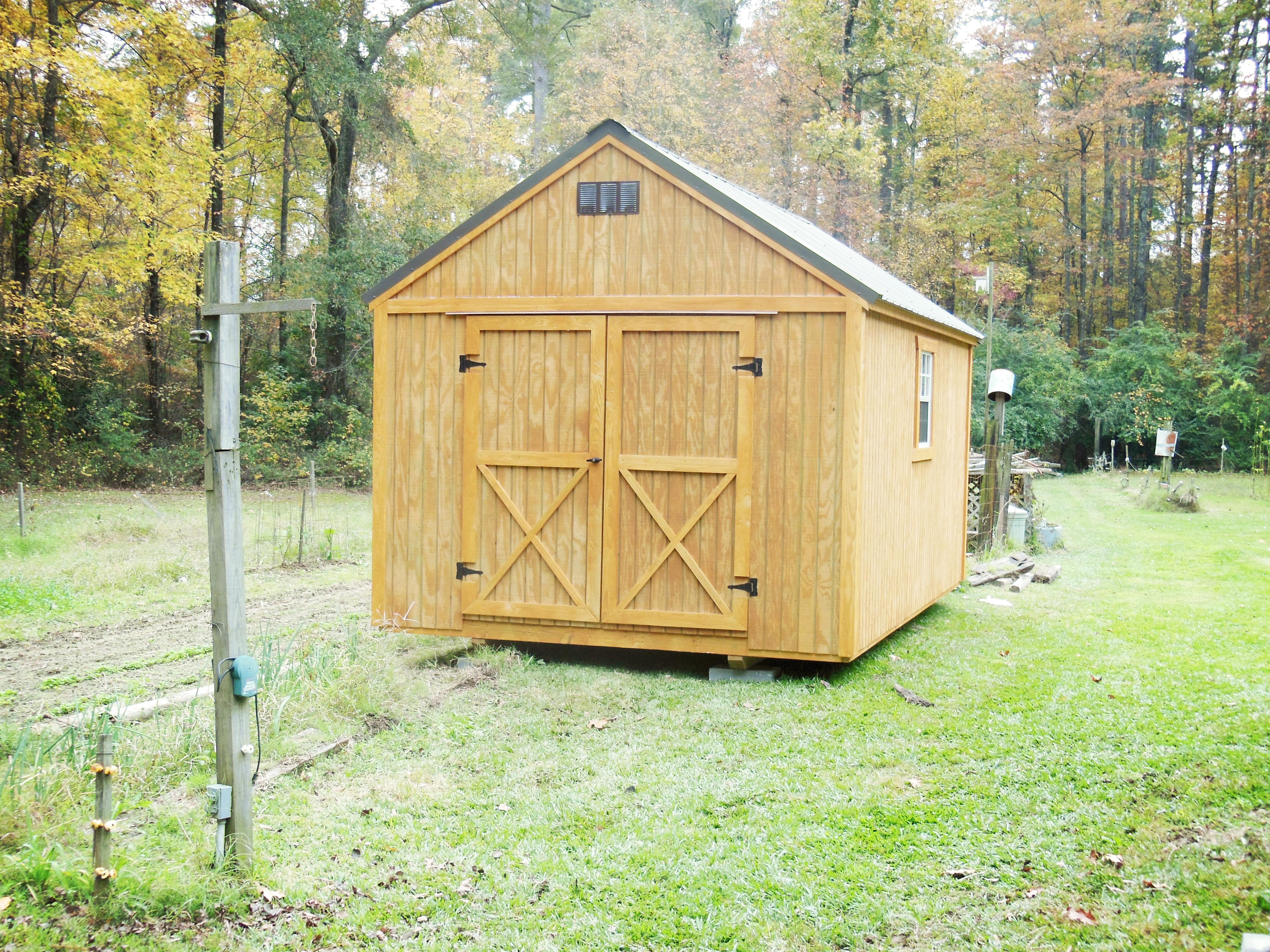 Lofted Utility Portable Storage Building