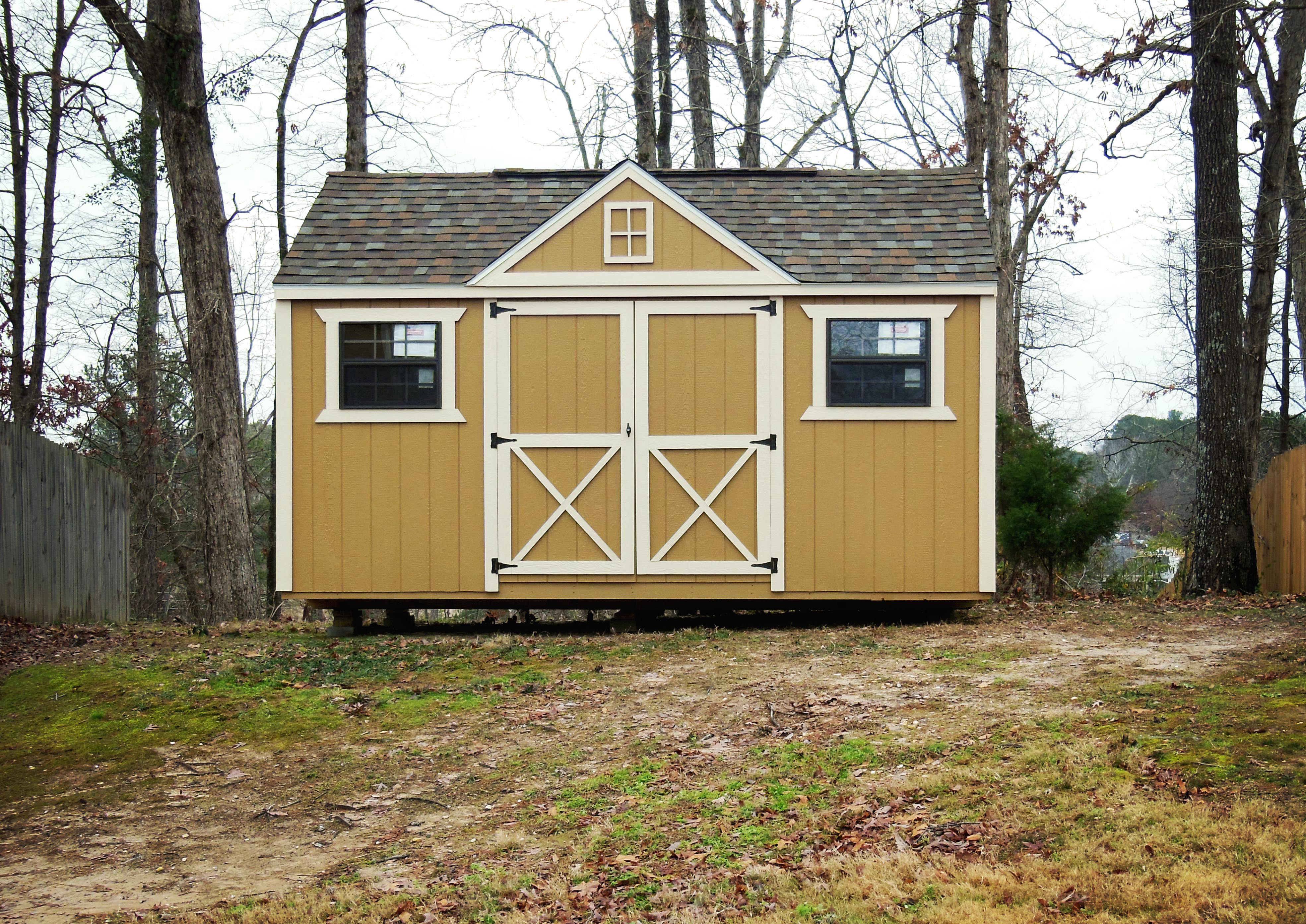 Custom Lofted Victorian Portable Storage Building