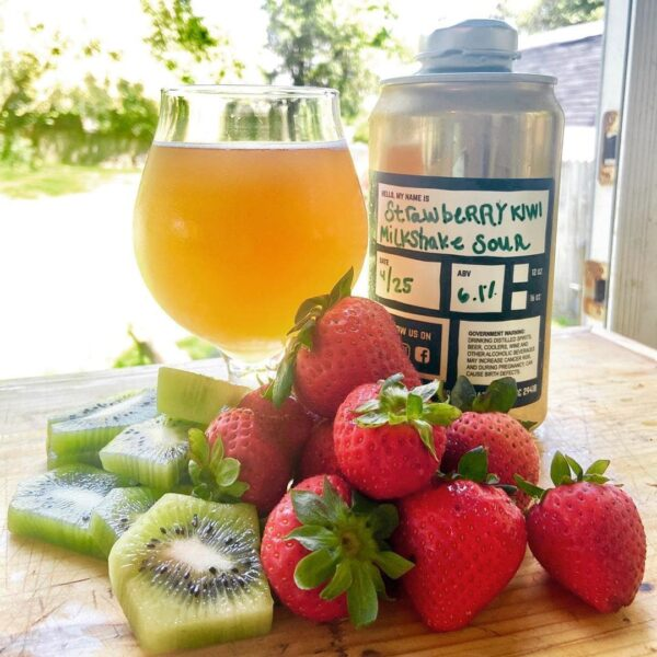 Snafu Brewing Company Strawberry Kiwi Milkshake Berliner Weisse