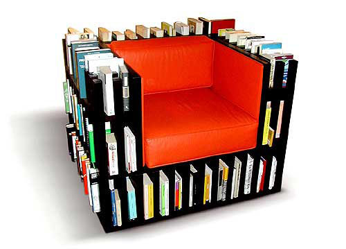 Sink into a Bibliochaise, a Chair Sized Library
