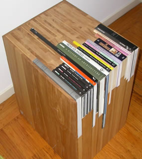 Book Lovers End Table Enshrine Your Books