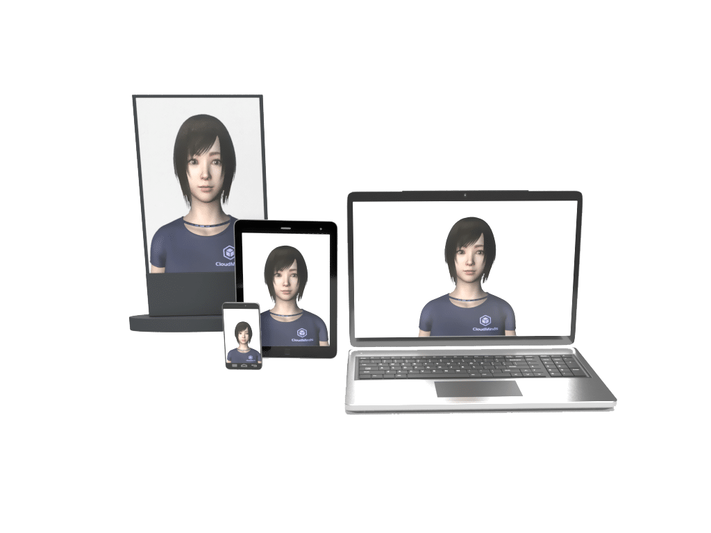 Cloudia Virtual AI Robot on various devices