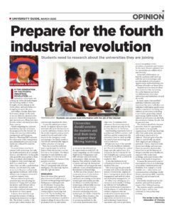 Assoc Prof Krishna N Sharma Article Fourth Industrial Revolution