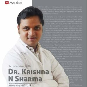 Assoc Prof Krishna N Sharma Physiotimes interview