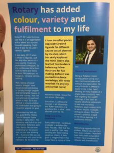 Assoc Prof Krishna N Sharma Rotary Magazine