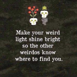 weird light shine bright