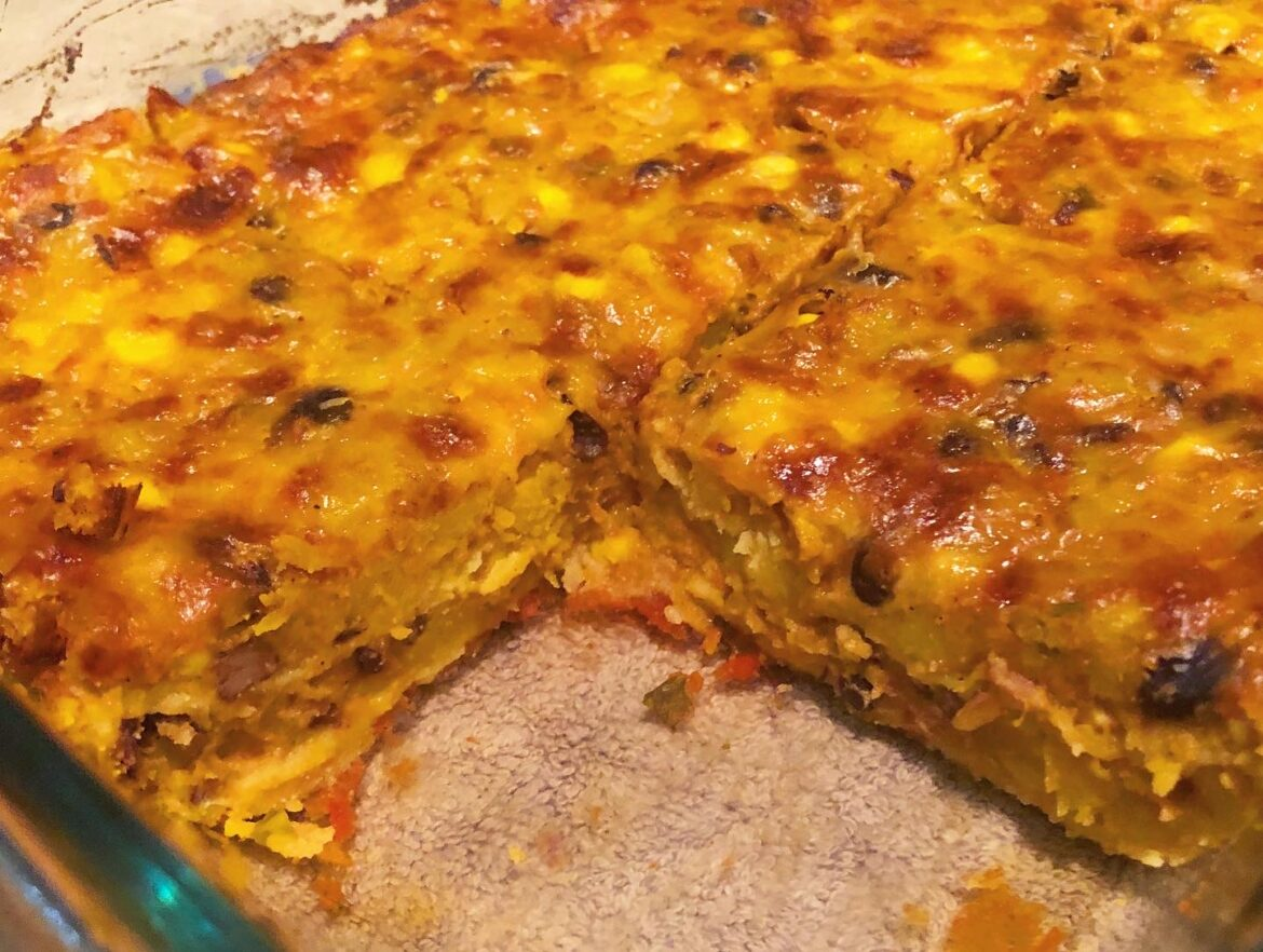 Healthy Black Bean Butternut Squash Enchilada Recipe
