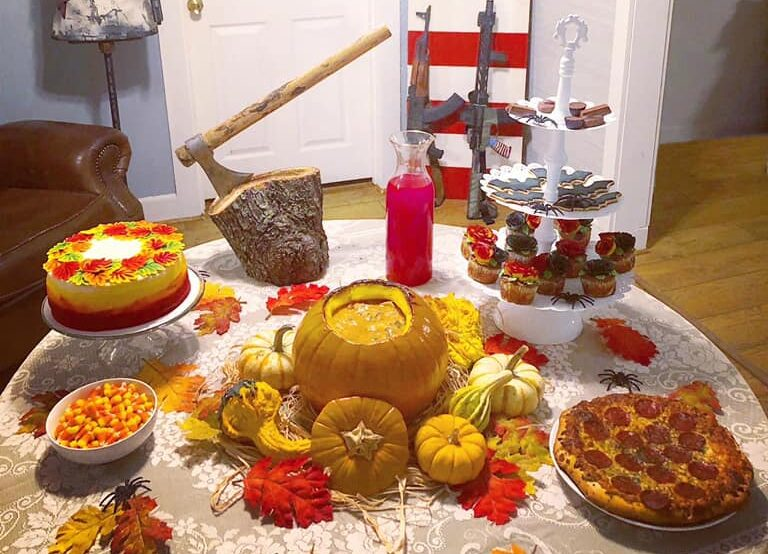 American Themed Halloween Tablescape