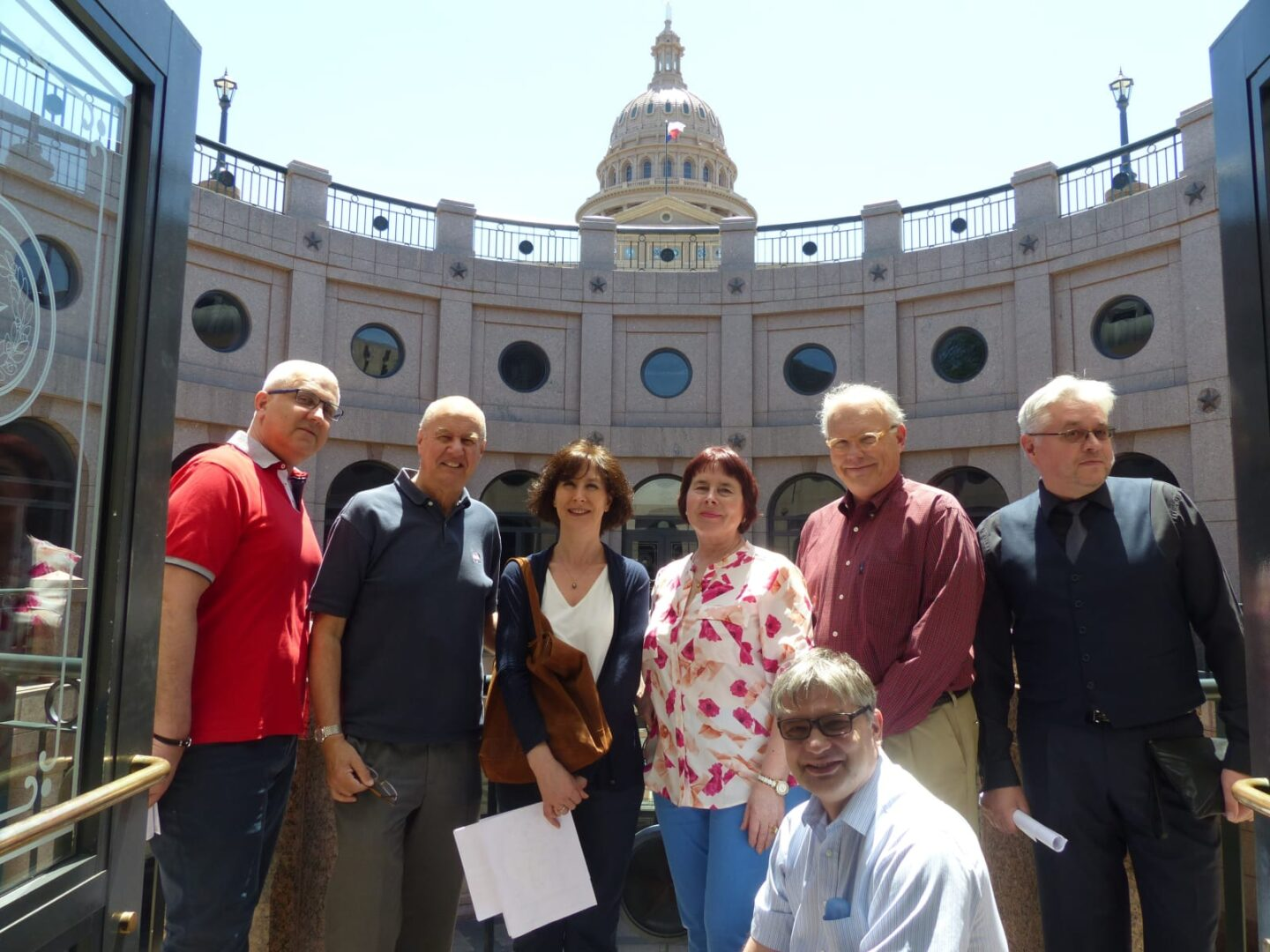 Conference speakers visit the Texas State Capitol on a guided tour with St. Edward's University Professor Dr. Charles Porter