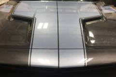 Custom Hood Silver Stripes