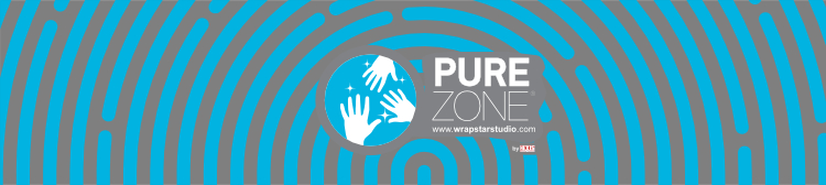 Pure Zone Label antimicrobial protection film Charleston Wrapstar