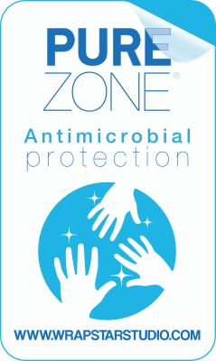 Pure Zone Sticker antimicrobial protection film Charleston Wrapstar