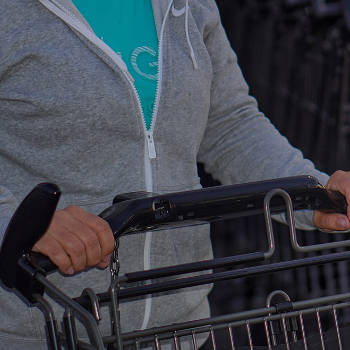 Shopping carts application Pure Zone antimicrobial protection film Charleston Wrapstar