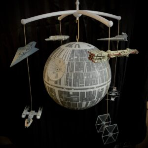 Death Star mobile, with eight smaller ships