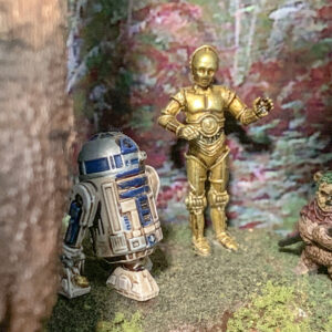 Star Wars AT-ST Diorama - Imperial Assault C-3P0 and R2-D2