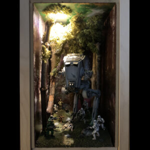 Star Wars AT-ST Diorama - complete lighting