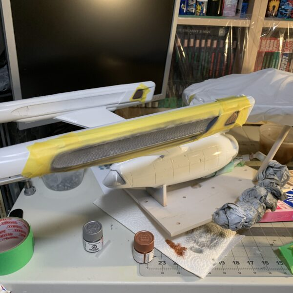 Polar Lights Refit Enterprise: Re-deco log, Part 2, adding detail to the warp nacelles