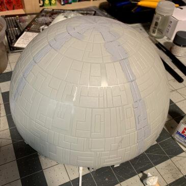 Death Star Build Log - AMT Ertl Death Star filling seams