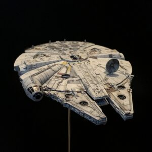 Death Star Mobile Build Log Part 3 - Bandai 1:350 Millennium Falcon complete
