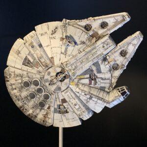 Death Star Mobile Build Log Part 3 - Bandai 1:350 Millennium Falcon complete, top view