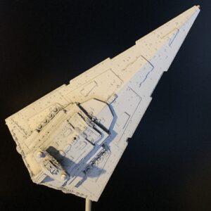 Death Star Mobile Build Log Part 3 - Bandai Star Destroyer complete, top view