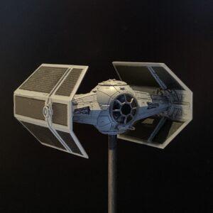 Death Star Mobile Build Log Part 3 - Bandai 1:144 Darth Vader's TIE Fighter complete