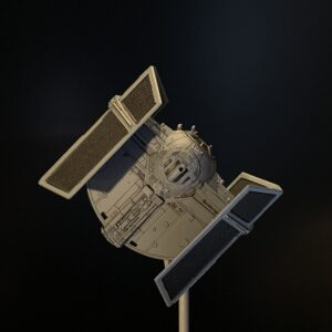 Death Star Mobile Build Log Part 3 - Bandai 1:144 Darth Vader's TIE Fighter complete, top view