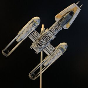 Death Star Mobile Build Log Part 3 - Bandai 1:144 Y-Wing complete, top view