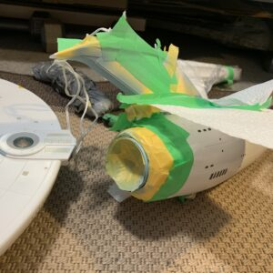 Polar Lights Refit Enterprise: Re-deco log, Part 4: Painting the front of the neck