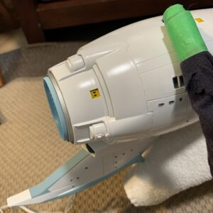 Polar Lights Refit Enterprise: Re-deco log, Part 4: Painting the thrusters