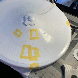 Polar Lights Refit Enterprise: Re-deco log, Part 5: Masking the lower saucer