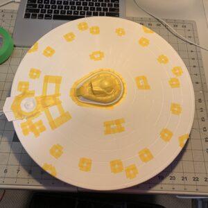 Polar Lights Refit Enterprise: Re-deco log, Part 5: Masking the upper saucer