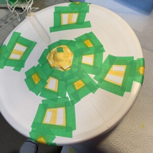 Polar Lights Refit Enterprise: Re-deco log, Part 5: Lots more masking tape