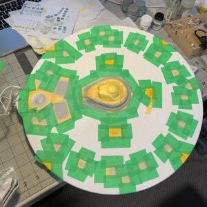 Polar Lights Refit Enterprise: Re-deco log, Part 5: Painting the upper saucer