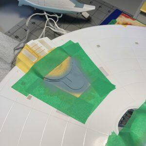 Polar Lights Refit Enterprise: Re-deco log, Part 5: Impulse engine painting