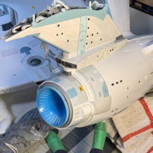 Polar Lights Refit Enterprise: Re-deco log, Part 6: Deflector dish complete