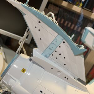 Polar Lights Refit Enterprise: Re-deco log, Part 6: First decal applied!