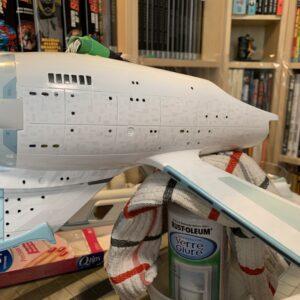 Polar Lights Refit Enterprise: Re-deco log, Part 6: Secondary hull sides