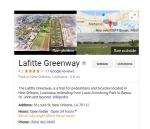 LaFitte Greenway