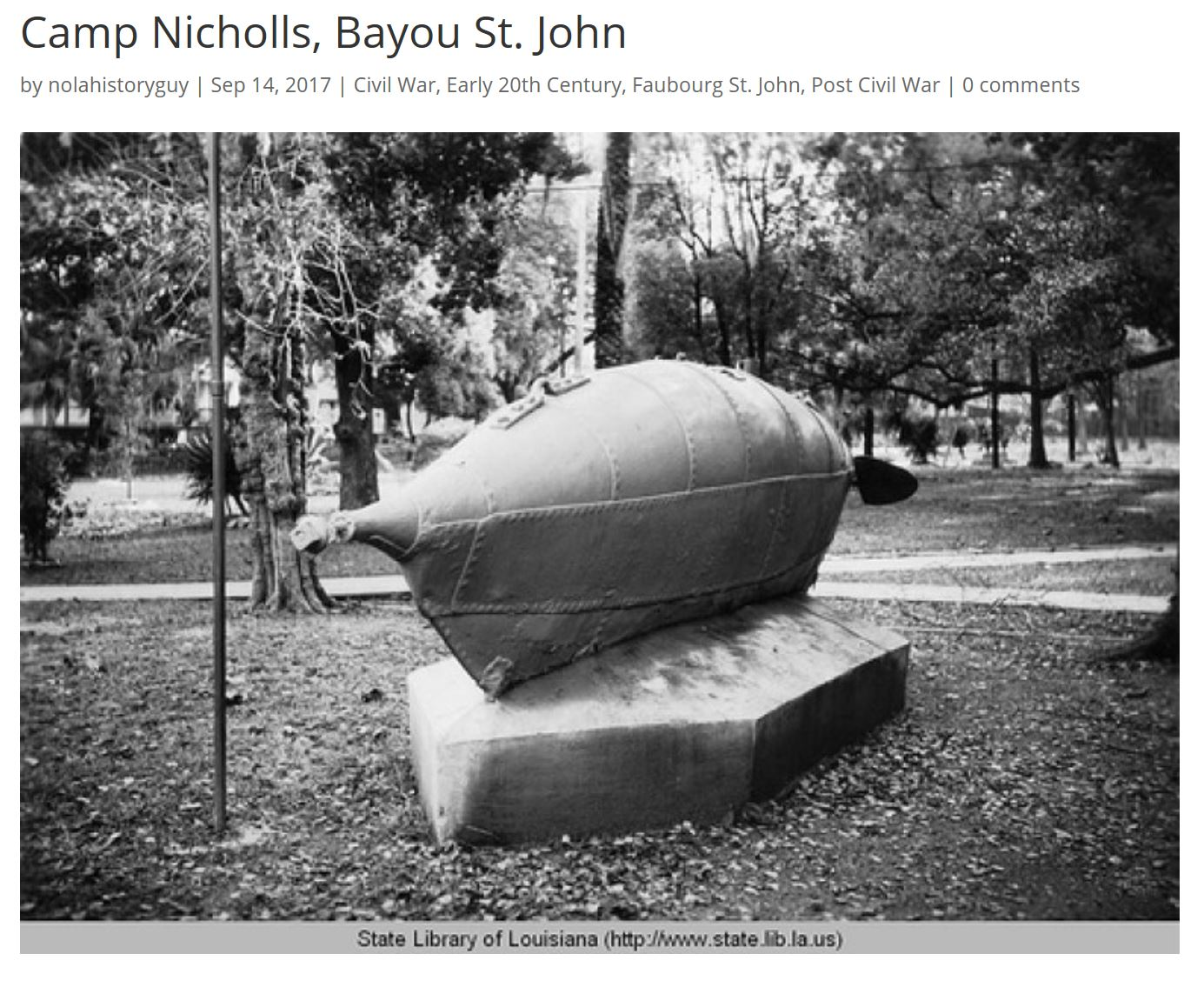 camp nicholls submarine 1907