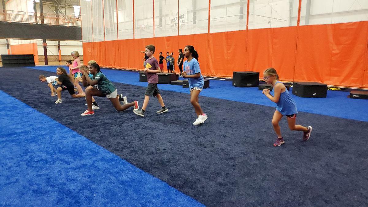 kids doing exercise