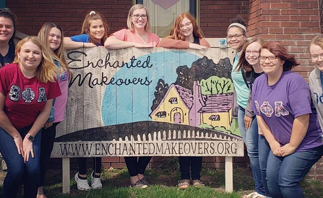 Sororities and Fraternities can help Enchanted Makeovers
