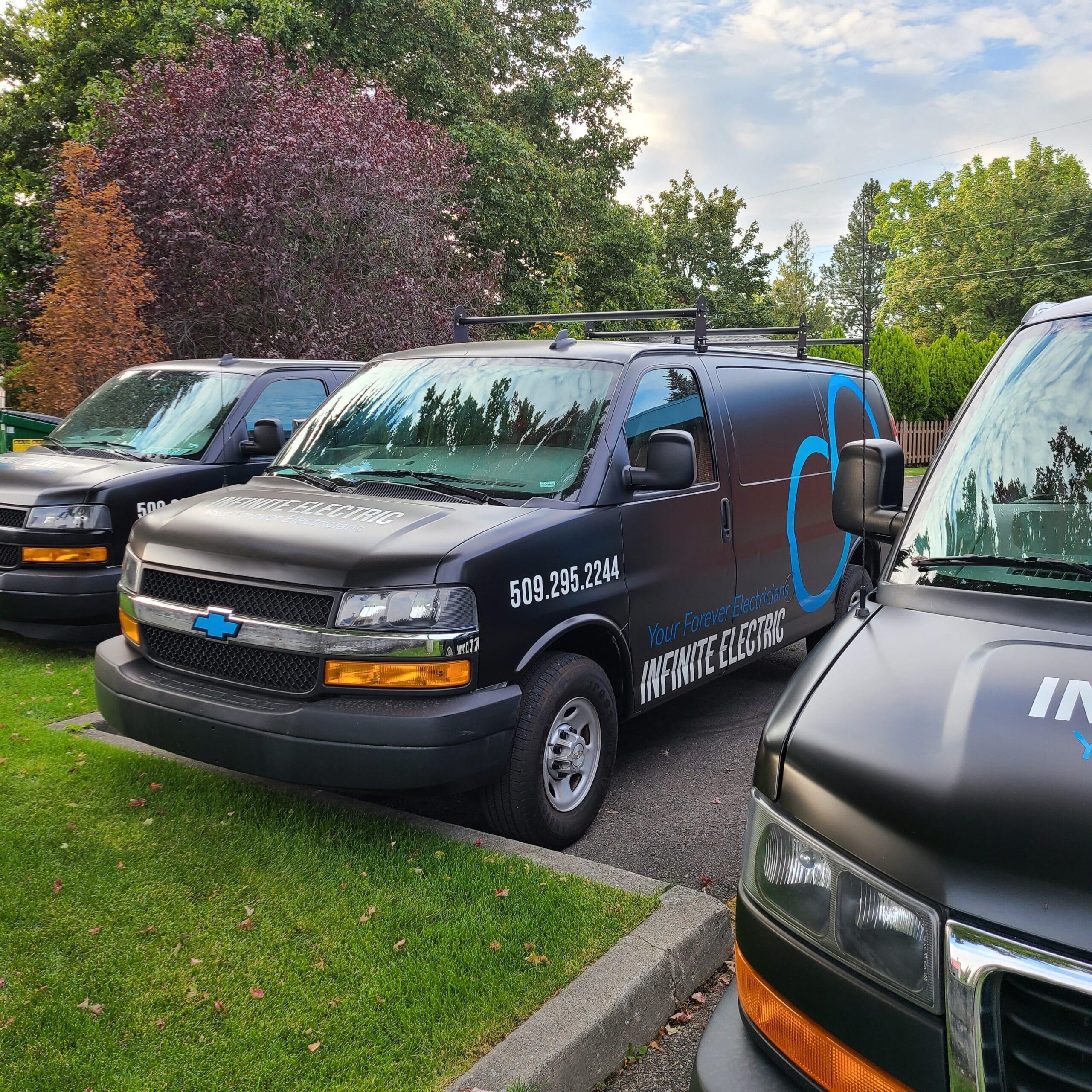 Fleet of Infinite Electric Vans