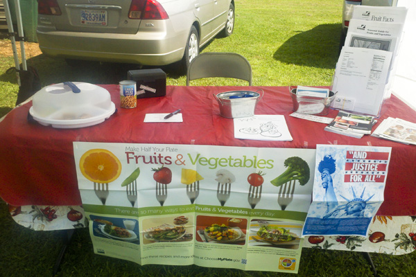 Visitors to the farmer's market in Jemison last year had the opportunity to learn about the Farmers Market Nutrition Program.