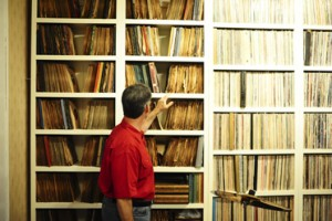Schiermann has about 8,000 records in his collection.