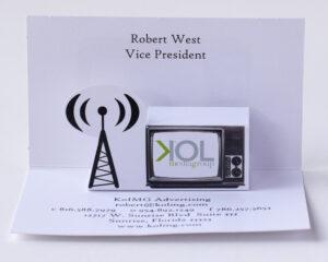 Custom Pop Up Business Cards
