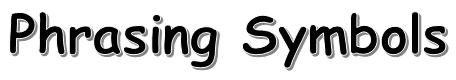 Classical Guitar Phrasing Symbols 1