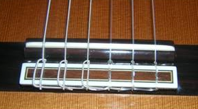 Classical Guitar Strings at Bridge