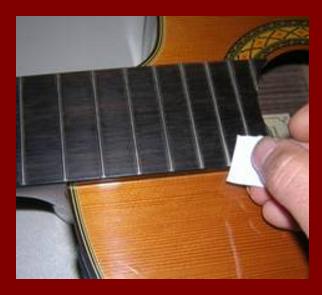 Checking a Classical Guitar Fret