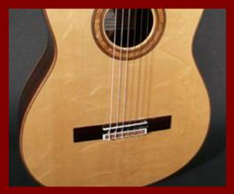 Bearclaw Top on a Classical Guitar